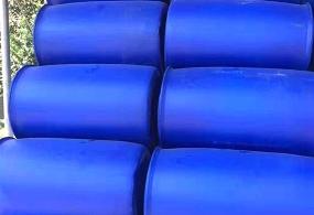 广西厂家批发HDPE蓝色闭口双环桶